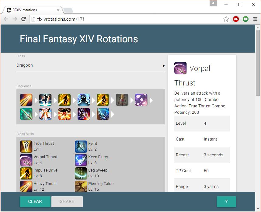 Developing FFXIVRotations com